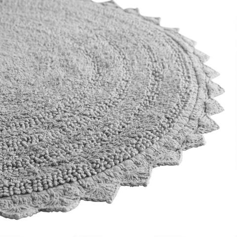Frost Gray Round Bath Mat  Previous  v2. Frost Gray Round Bath Mat   World Market