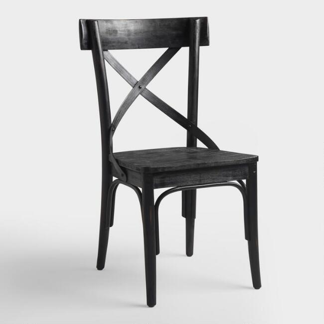 Black French Bistro Side Chairs Set of 2 – Black Bistro Chair