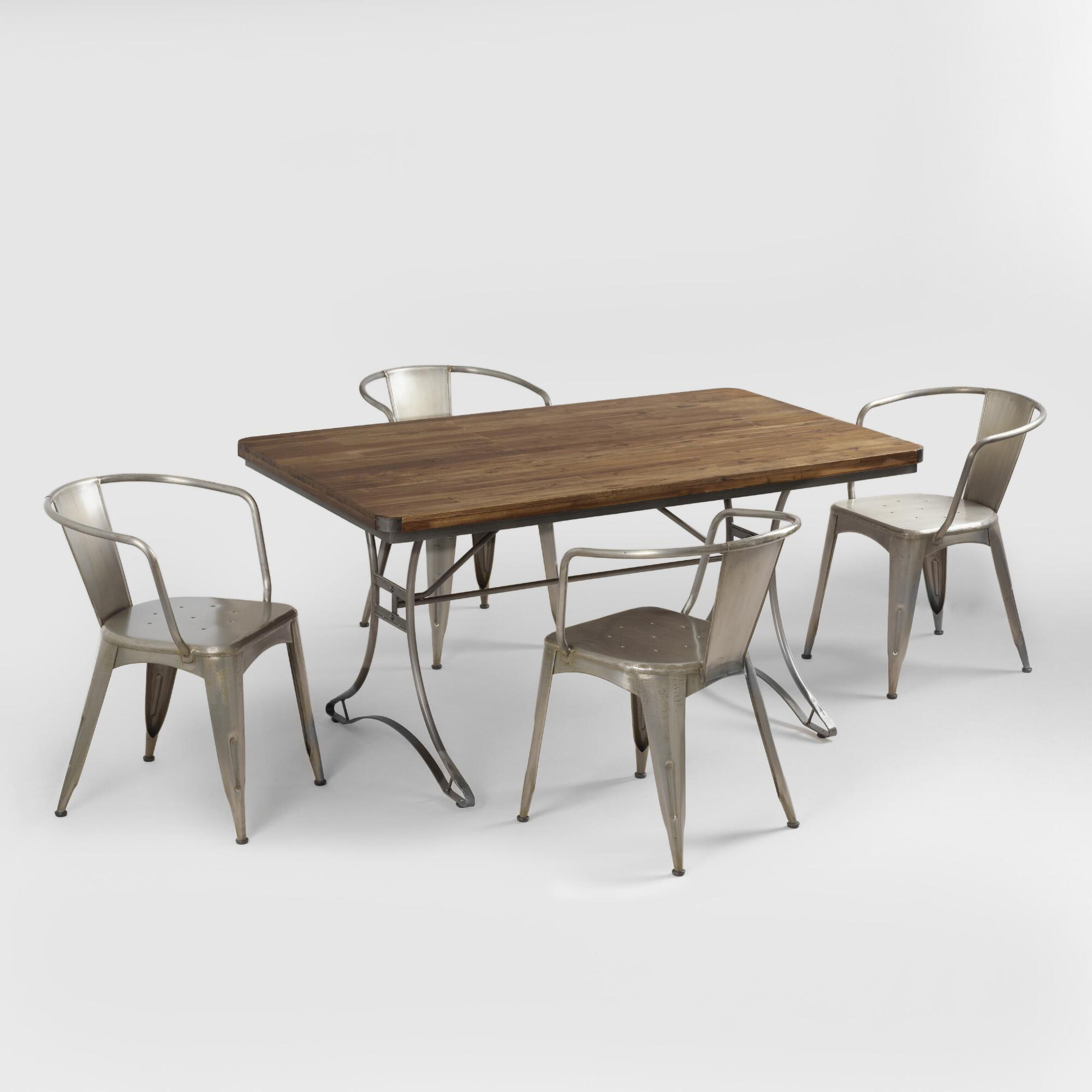 Industrial Dining Room Table Jackson Rectangular Table With Metal Base World Market