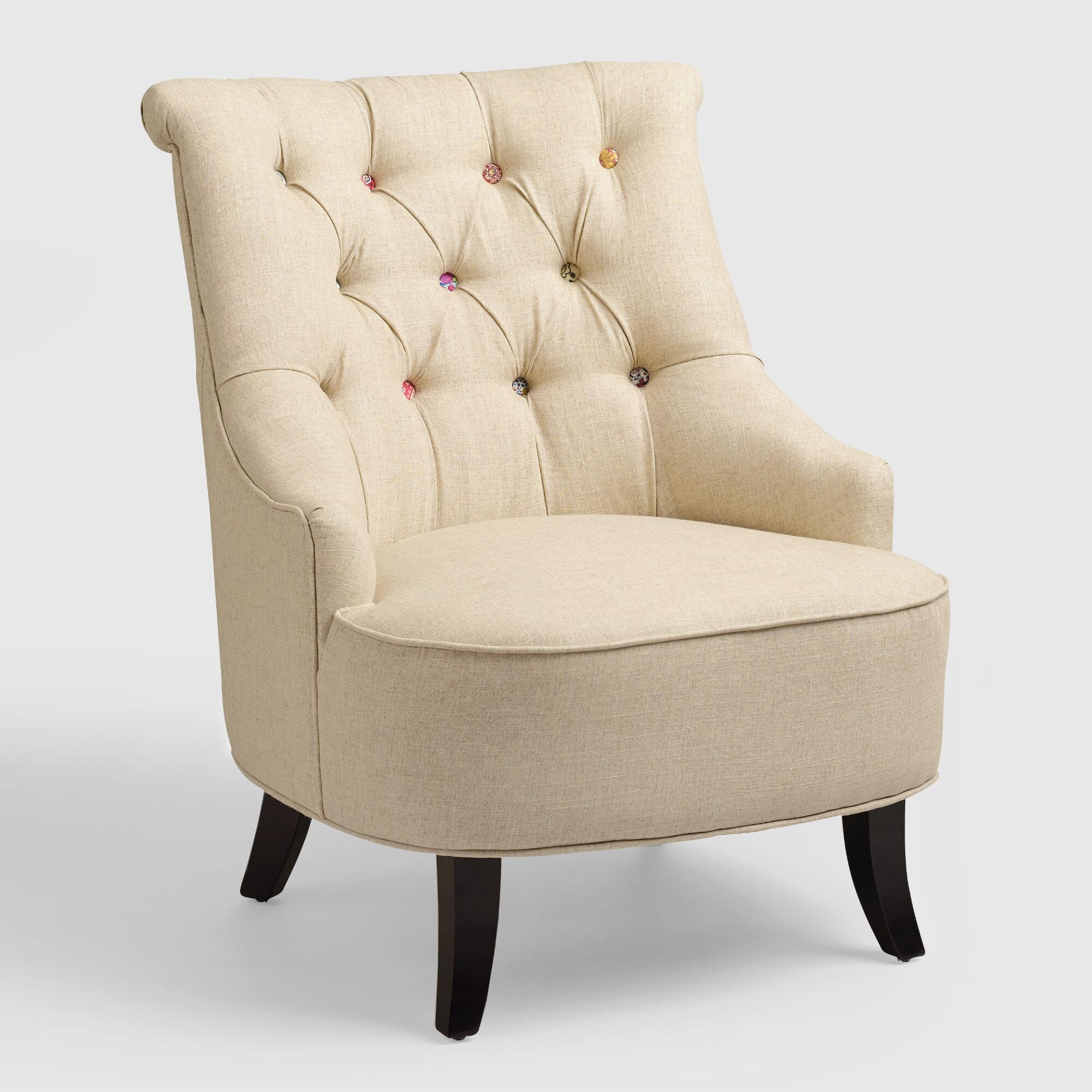 Comfortable arm chairs - Comfortable Armchairs Cute As A Button Erin Chair