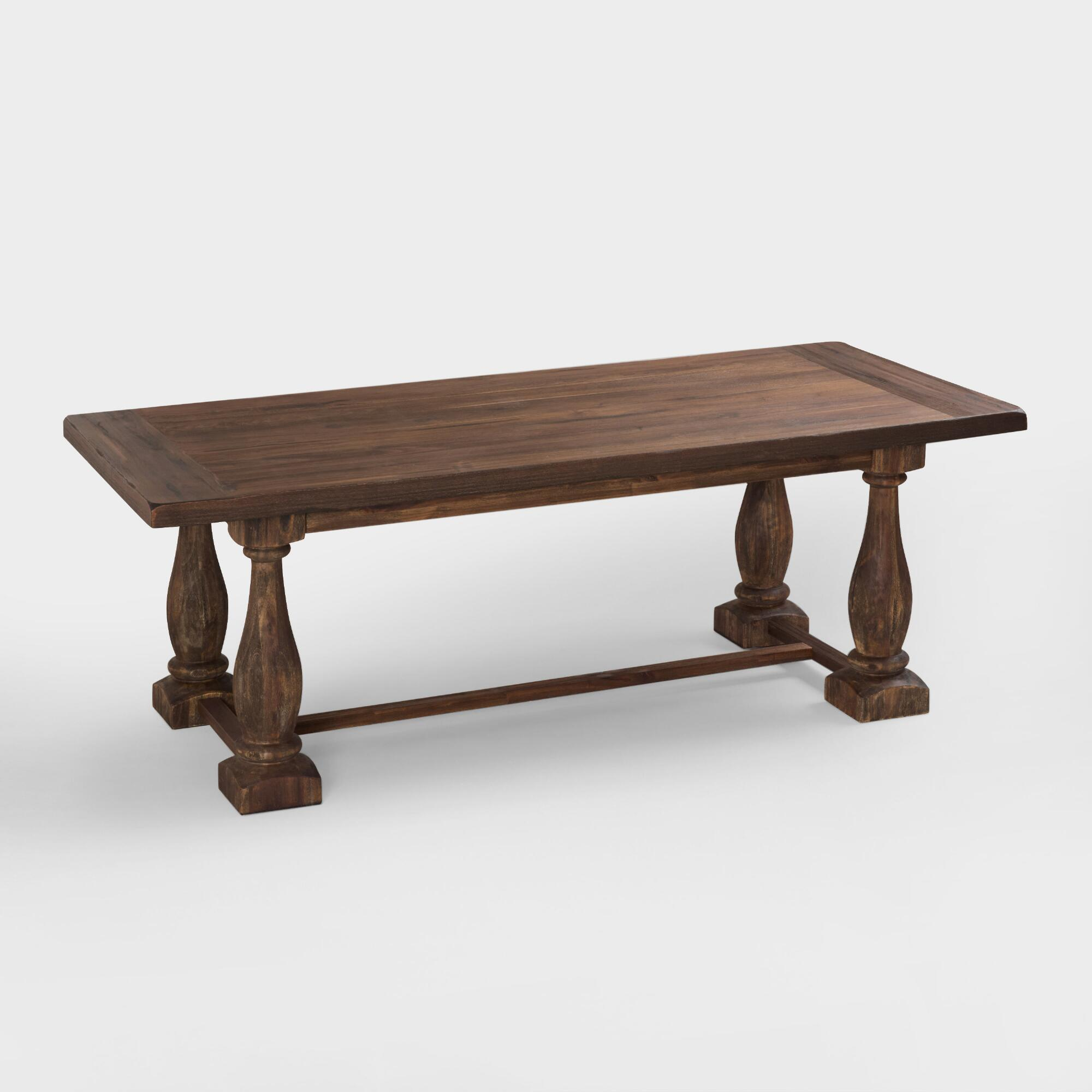 Unique wood dining table - Rustic Java Greyson Fixed Dining Table