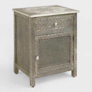 Kiran Embossed Metal Cabinet. Dressers  Chests and Bedroom Storage   World Market