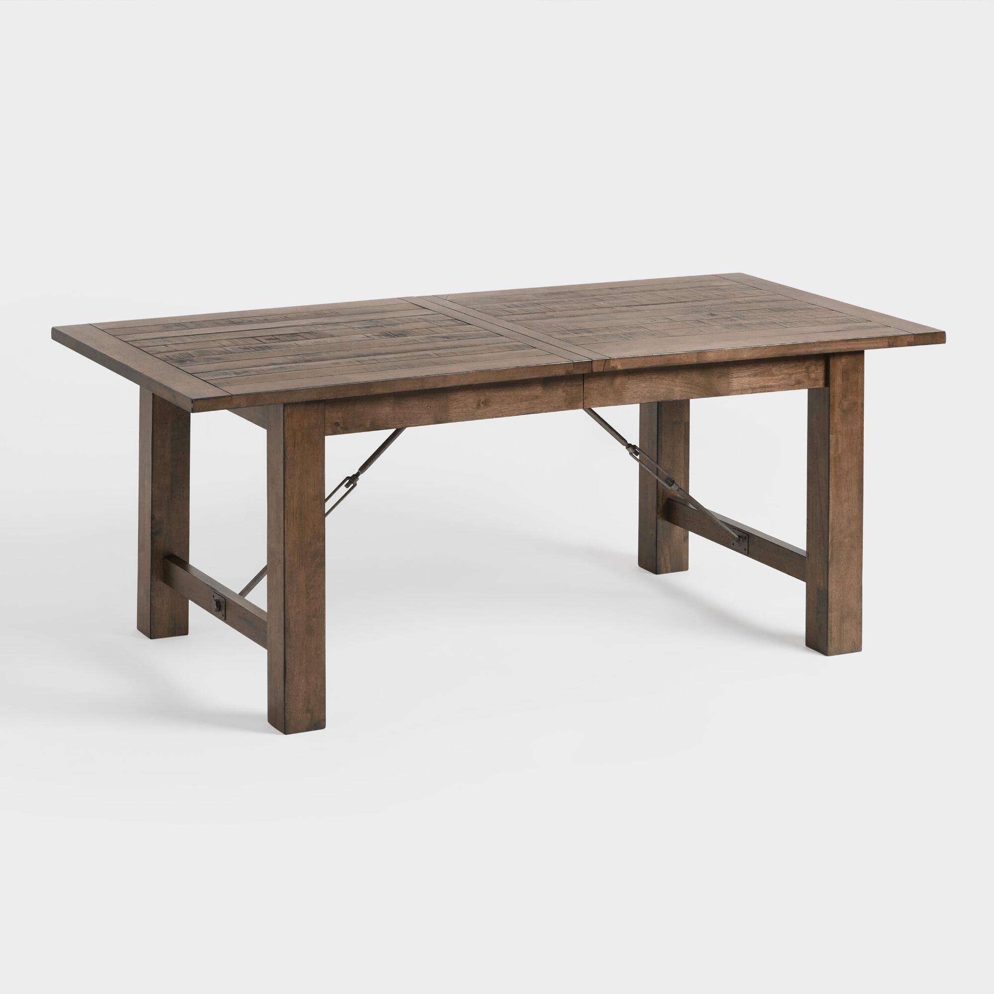 Industrial Extending Dining Table Wood Garner Extension Dining Table World Market