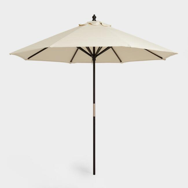 black 9 ft umbrella frame and pole