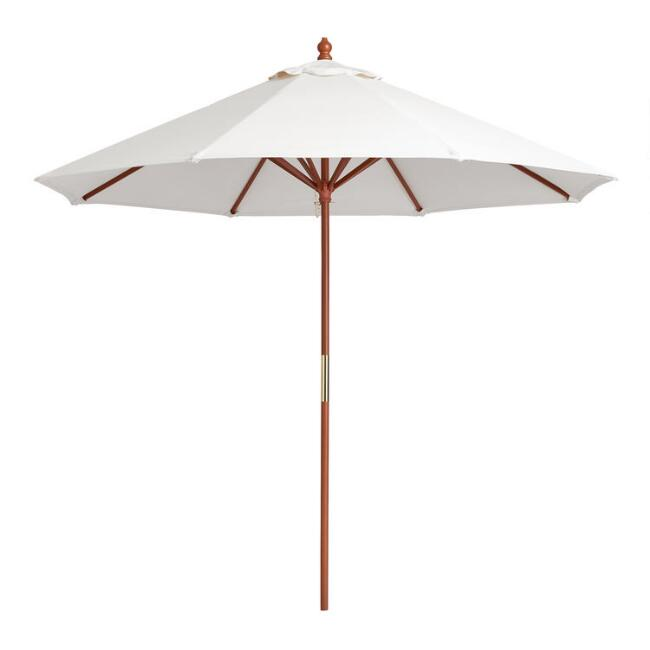 brown 9 ft umbrella frame and pole