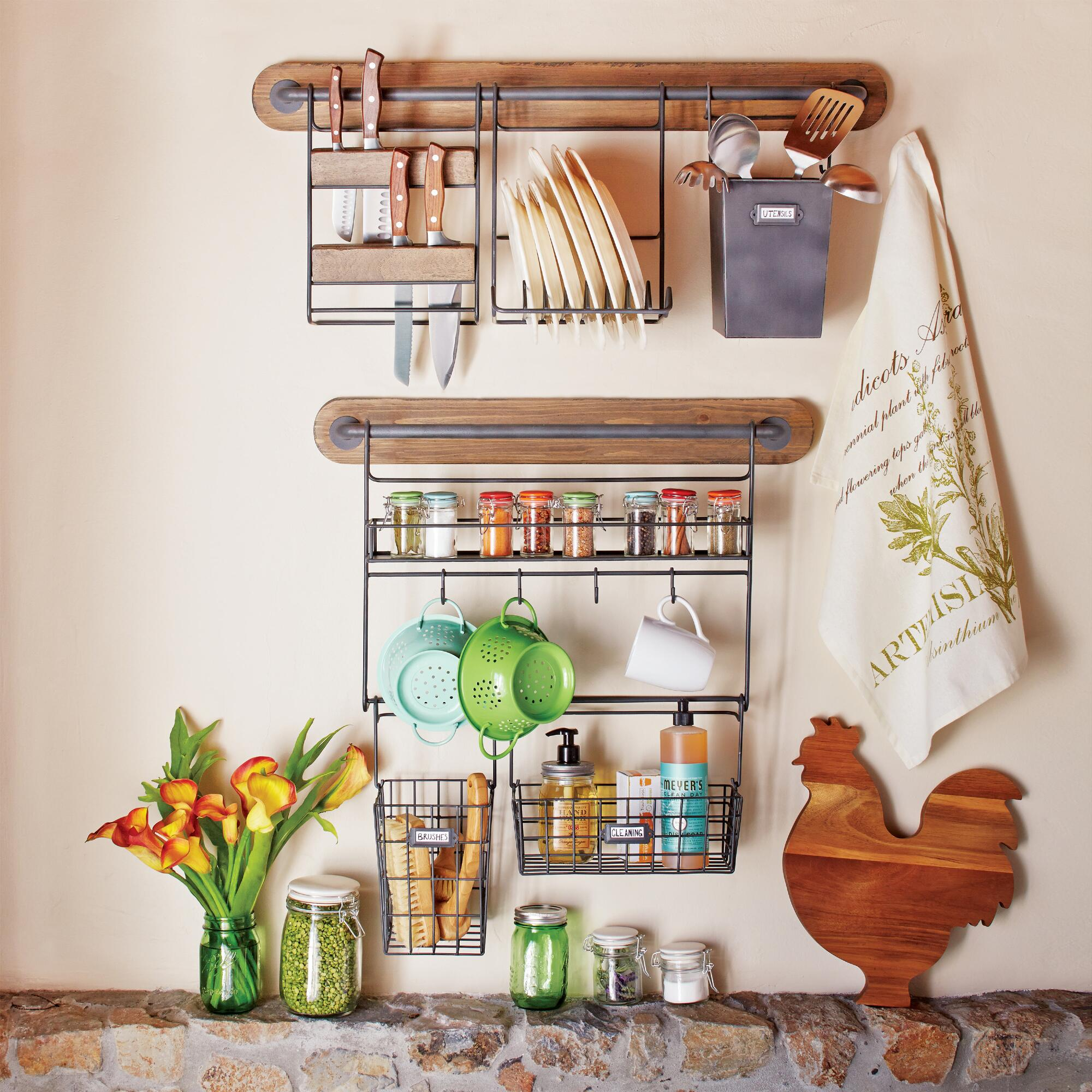 Kitchen Wall Storage Wire Modular Kitchen Wall Storage Cooking Utensil Caddy World Market