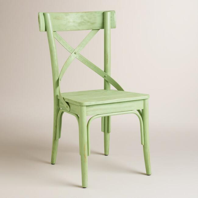 Light Green French Bistro Dining Chairs Set of 2 – Bistro Dining Chair