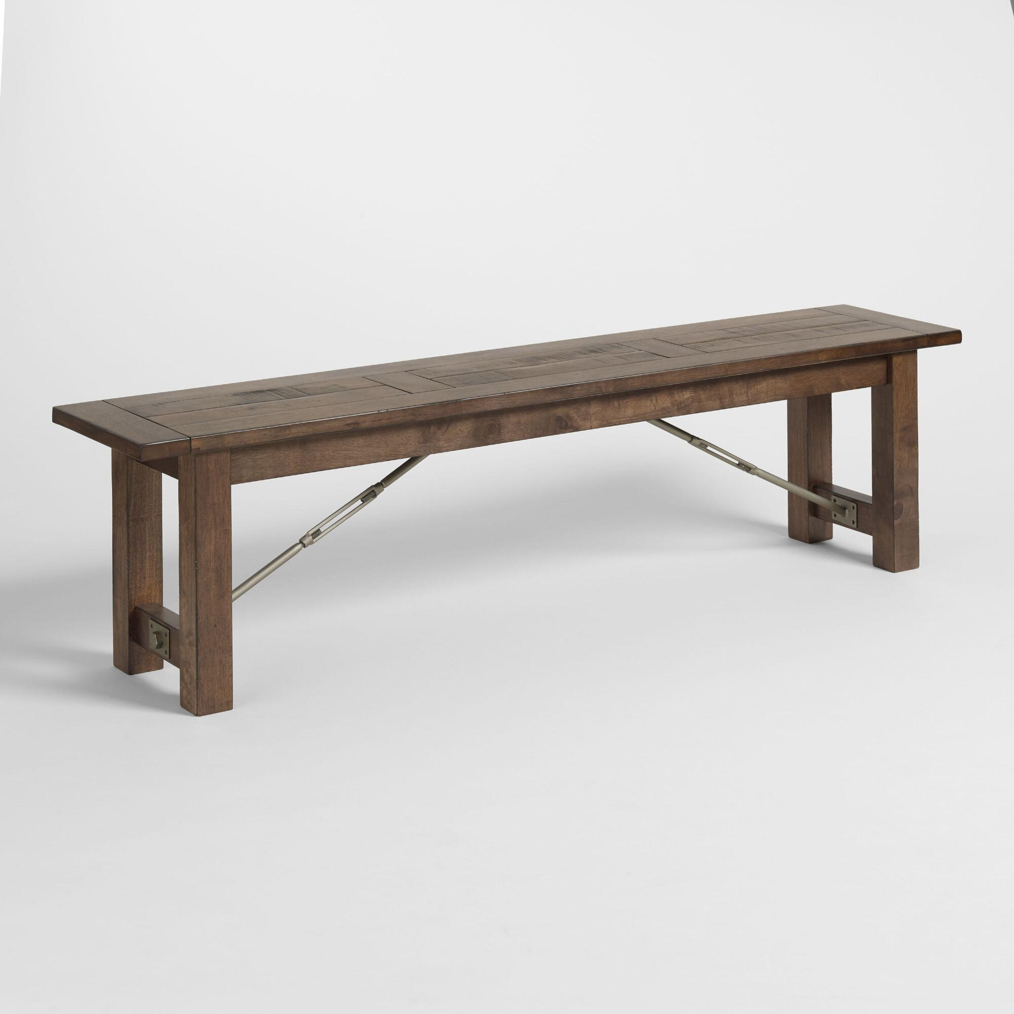 Bedroom benches with backs - Wood Garner Dining Bench