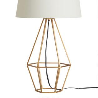 Table Top Lamps & Unique Lamp Shades | World Market:Brass Diamond Table Lamp Base,Lighting