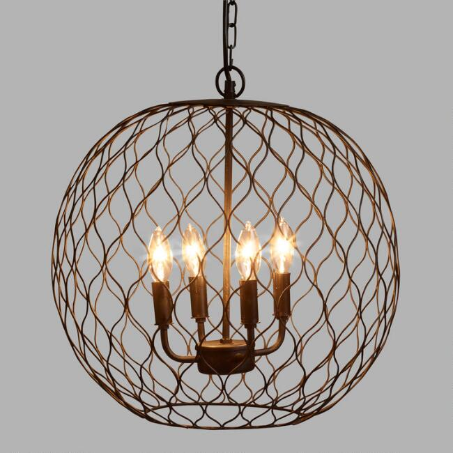 Dark Bronze Globe Farmhouse Chandelier – Chandelier Bronze
