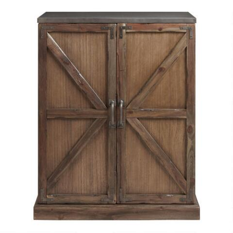 Wood Farmhouse Barn Door Bar World Market