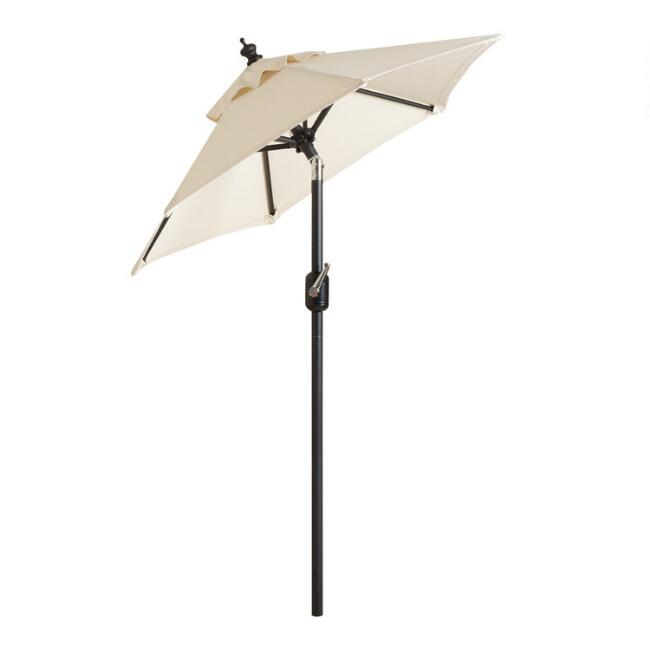 black 5 ft outdoor tilting umbrella frame