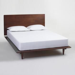 walnut brown wood barrett queen bed