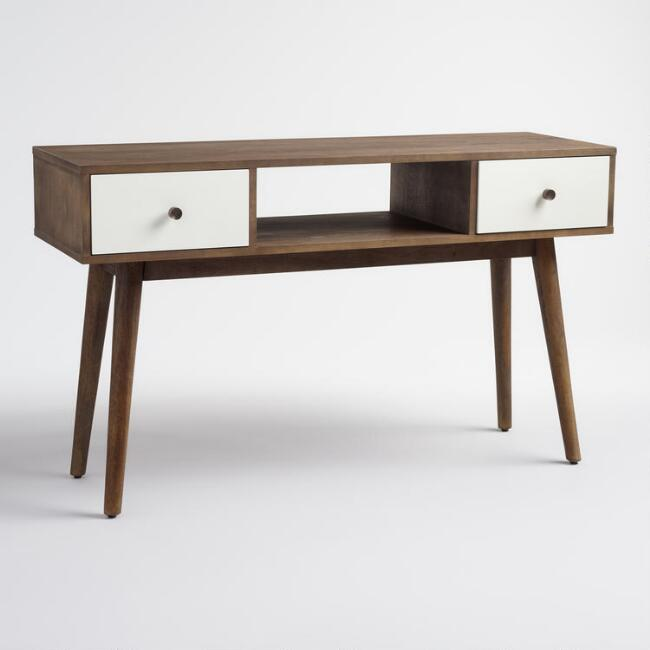 Wood And Metal Aiden Console Table: Wood And Metal Aiden Bed