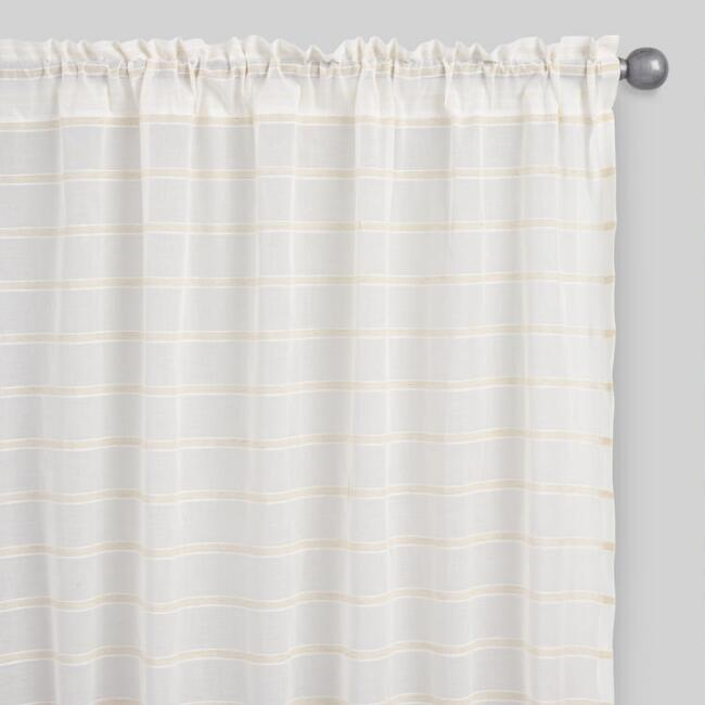Natural Crinkle Voile Cotton Curtains, Set of 2 | World Market