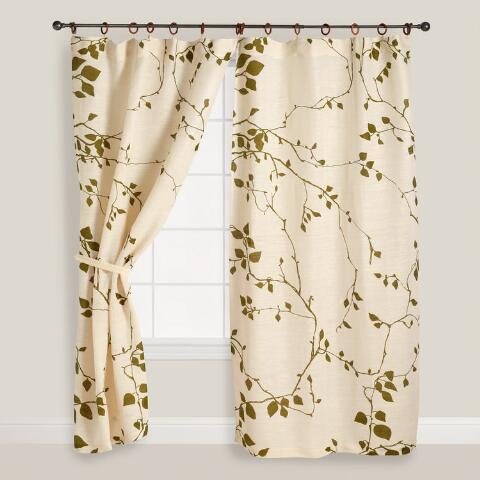 Curtains Ideas cost plus curtains : Lyrical Branches Jute Curtains, Set of 2 | World Market