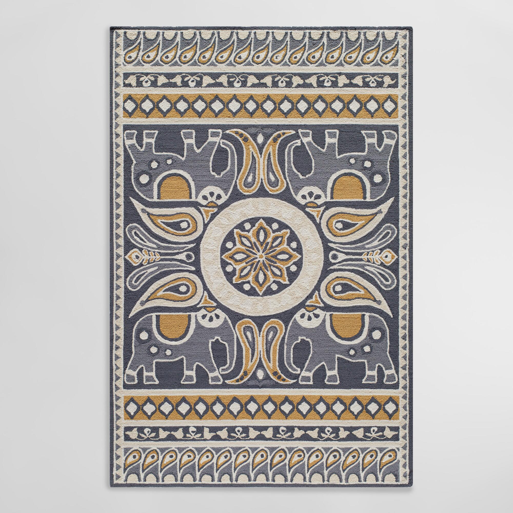 Gray Lanka Indoor Outdoor Patio Area Rug - 5Ftx7Ft by World Market 5Ftx7Ft