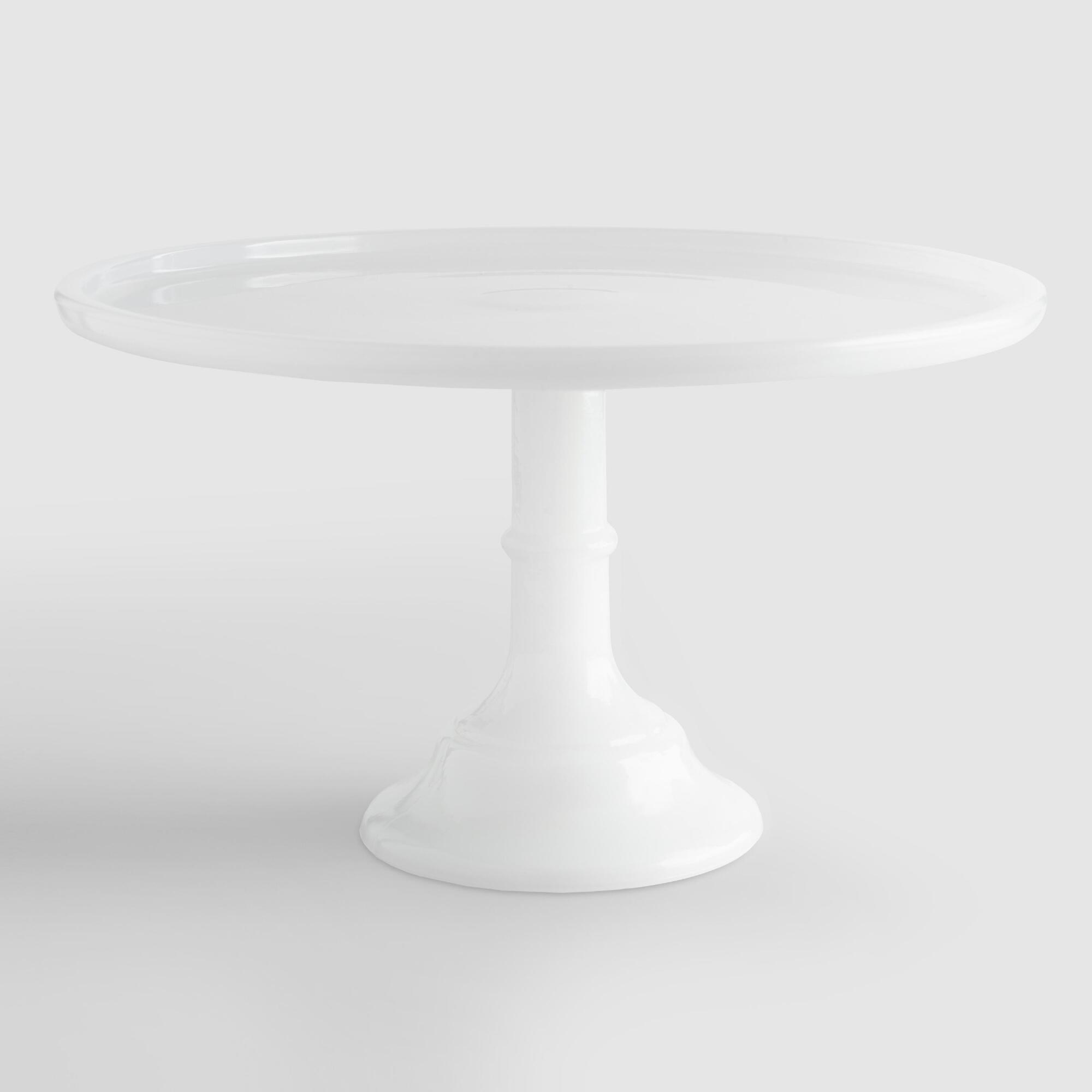 White Frosted Glass Pedestal Stand - 12.5In by World Market 12.5In