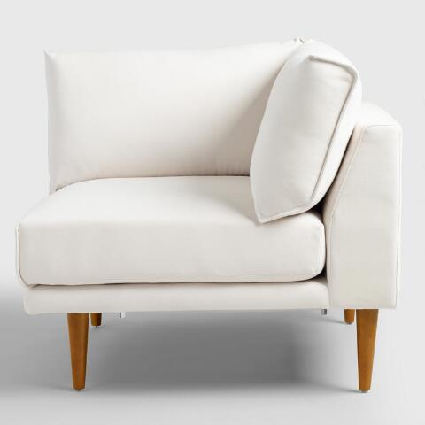 Ivory Nica Sectional Corner Chair World Market