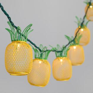 String lights fairy lights outdoor string lights mini for Pineapple outdoor decor