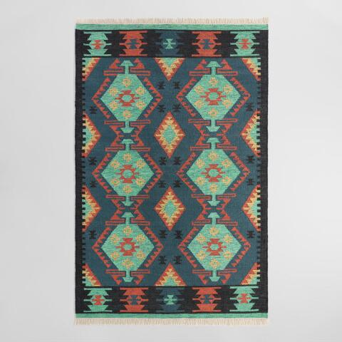 Multicolor Diamond Kilim Woven Darra Indoor Outdoor Rug ... - photo#28