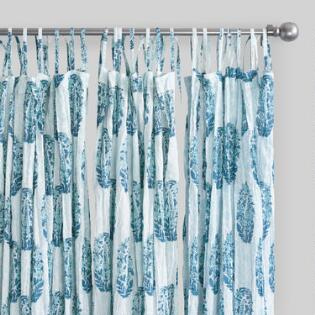 Green Curtains blue green curtains : Striped Curtains & Colorful Patterned Drapes | World Market